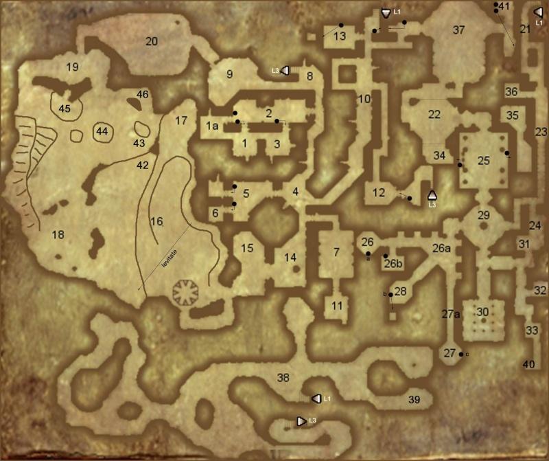 Nivel 2. Templo de Akbaa , Grutas de Cristal , La Gran Cueva , Prisión de los Duendes Level210