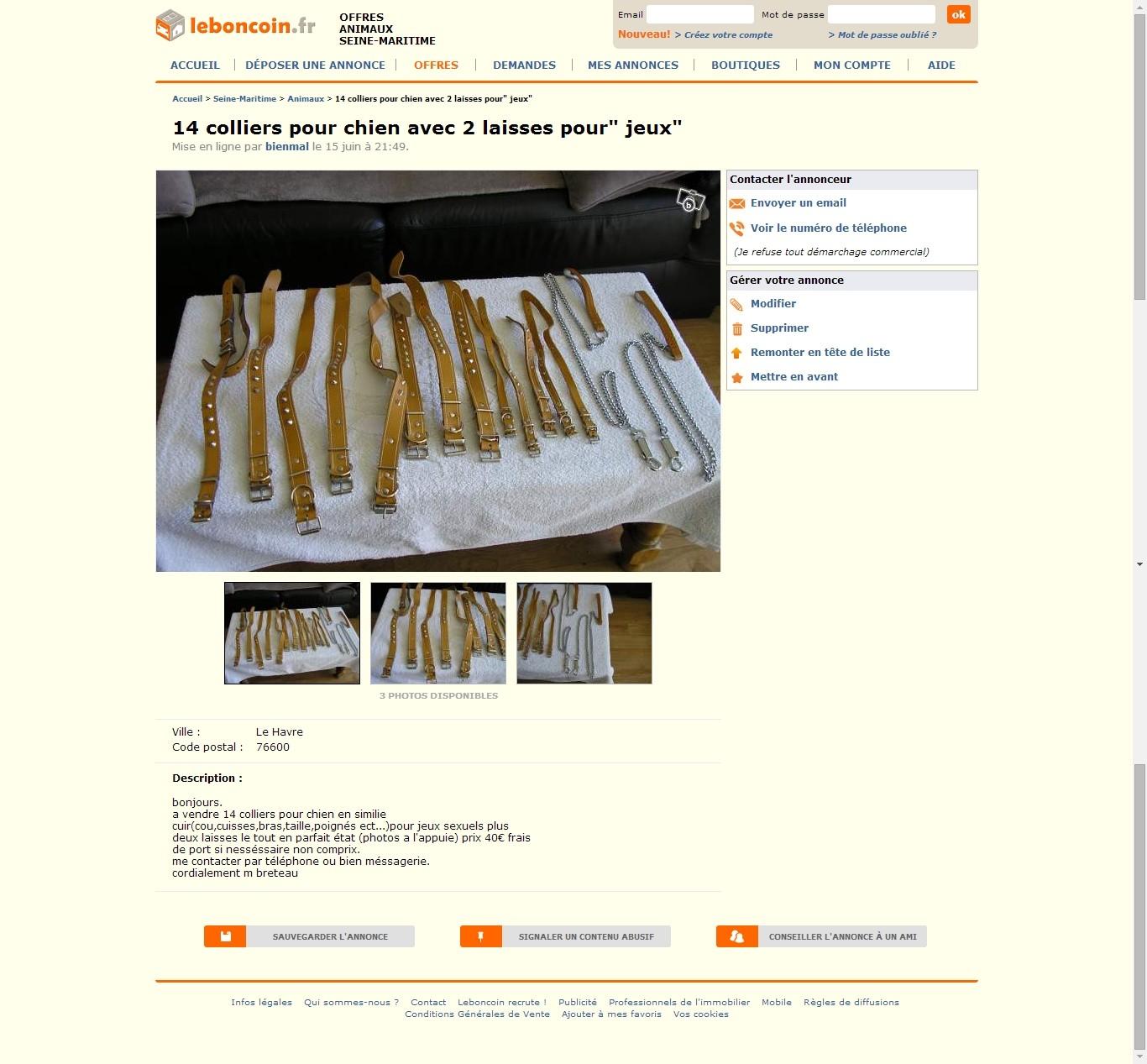 Ce que l'on trouve sur les sites de petites annonces... - Page 2 1-vert10