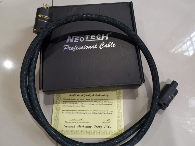 Neotech NEP-AE Anniversary Edition power cord SOLD Img_2018