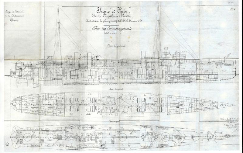 """""""Lieutenant BOURAKOV"""" contre-torpilleur de 300 tonnes - 1905. Epee12"""
