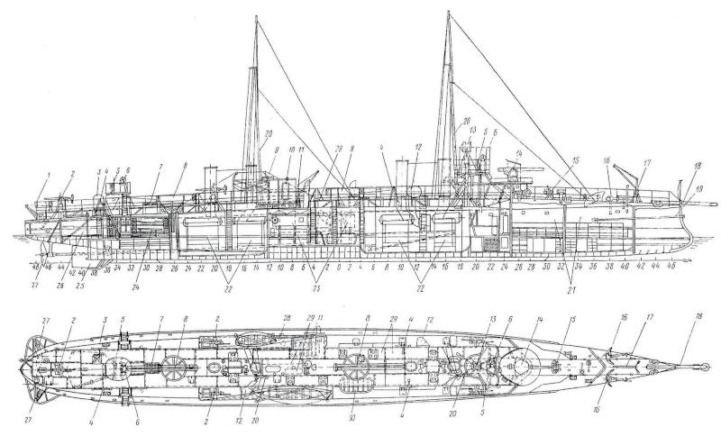 """""""Lieutenant BOURAKOV"""" contre-torpilleur de 300 tonnes - 1905. Image110"""