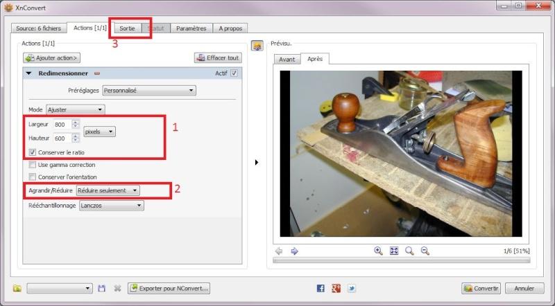 [FORUM MB] Redimensionner des photos avant de les poster Xnview11