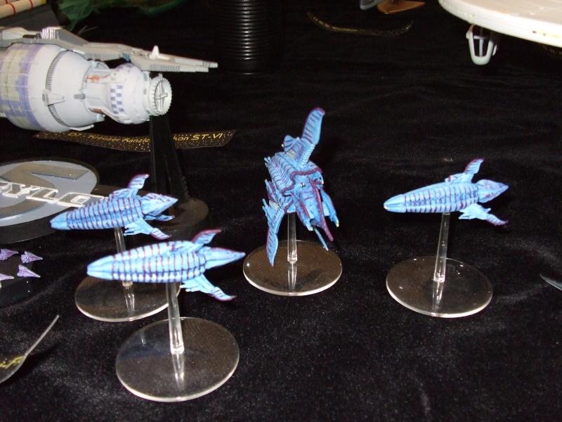 Babylon 5 Raumstation mit Minbariflotte 23910