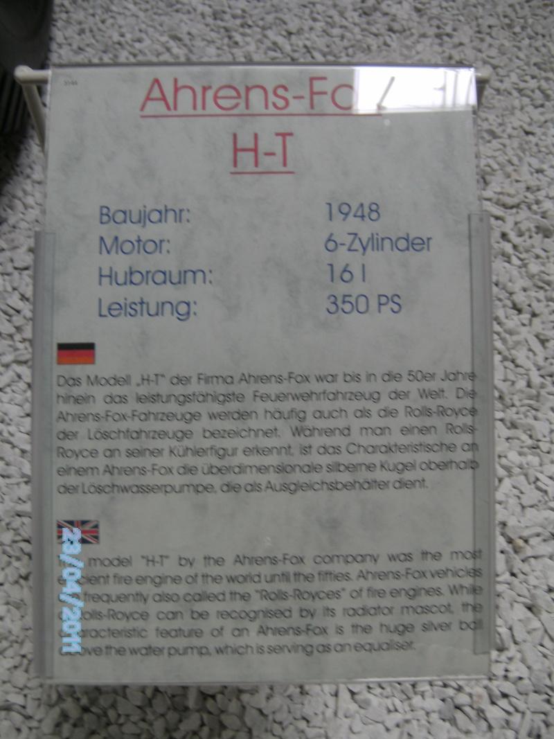 Historische Feuerwehrfahrzeuge im Technikmuseum Speyer Pict3821