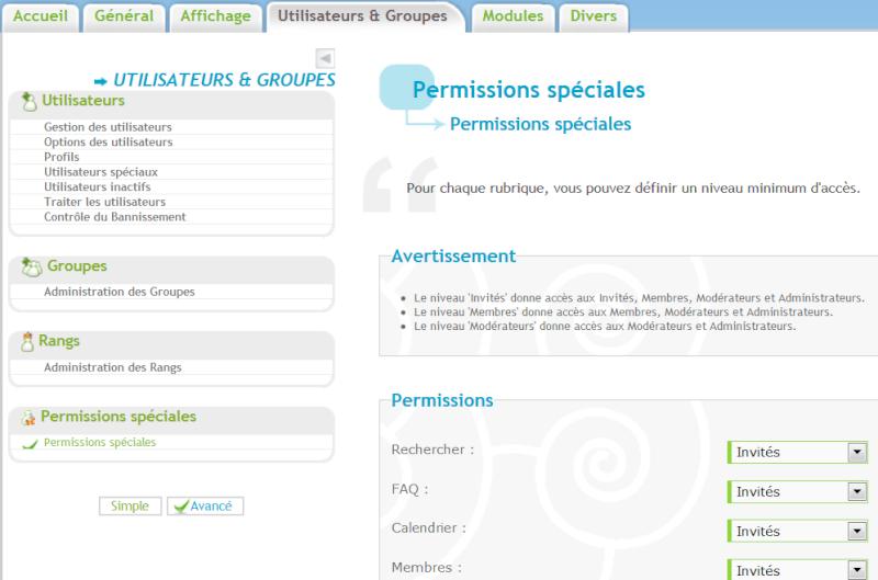 Plus d'accès à l'historique des messages des utilisateurs (données profil) Permis10