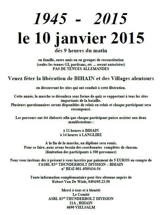 Marche 83th Infantry - Bihain - 10/01/2014 32326610