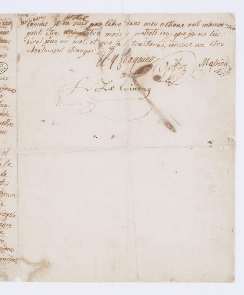Testament / Lettre de Marie-Antoinette à Madame Elisabeth, le 16 octobre 1793 Dafan142