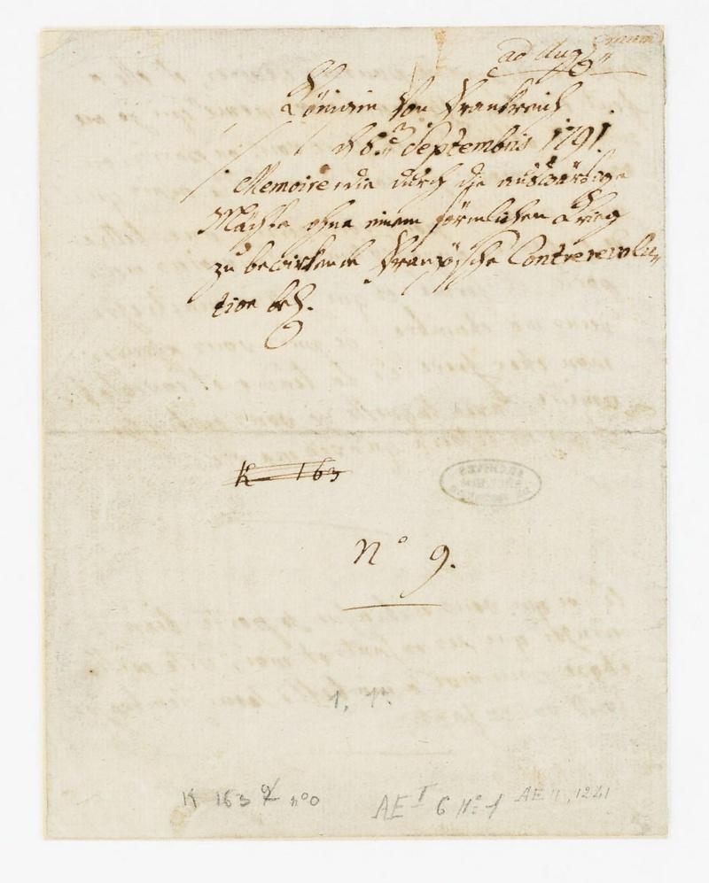 La correspondance de Marie-Antoinette avec son frère Léopold II Dafanc13