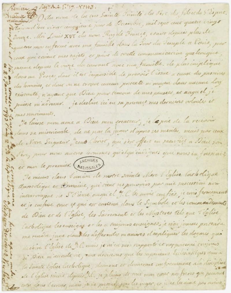 Lettres autographes et écrits de Louis XVI Dafanc47