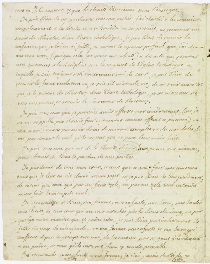 Lettres autographes et écrits de Louis XVI Dafanc48