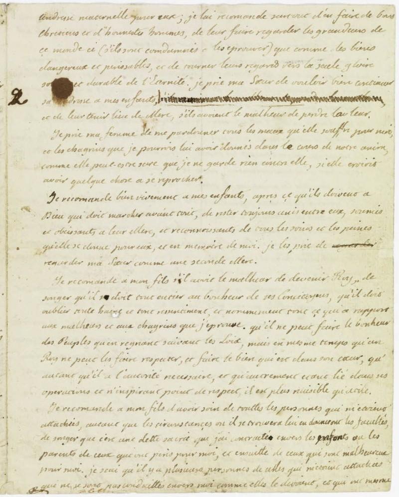 Lettres autographes et écrits de Louis XVI Dafanc49