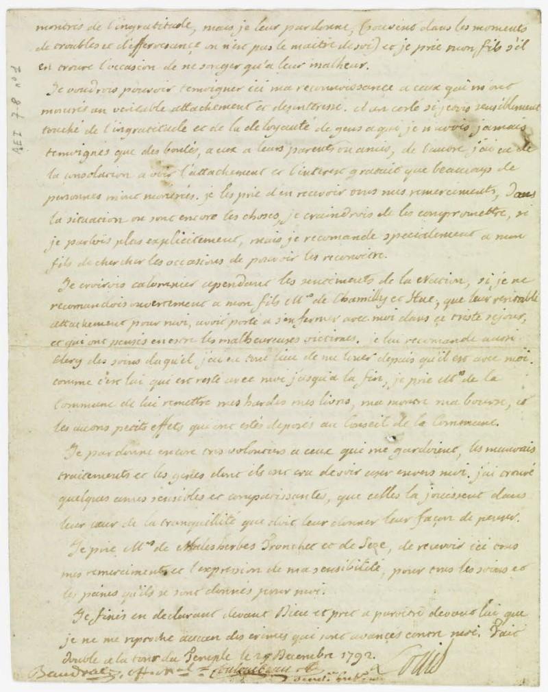 Lettres autographes et écrits de Louis XVI Dafanc50
