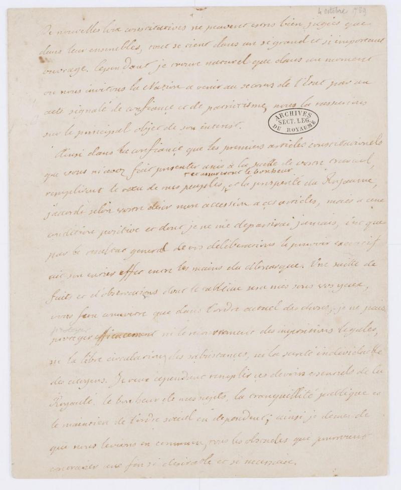 Lettres autographes et écrits de Louis XVI Dafanc54