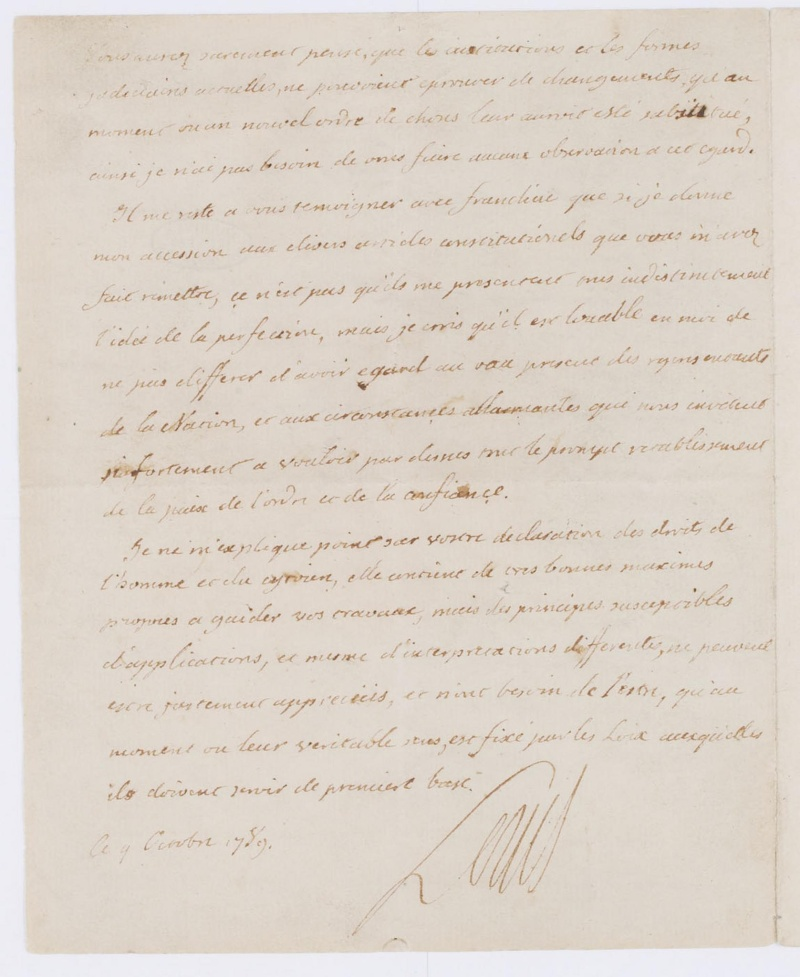 Lettres autographes et écrits de Louis XVI Dafanc55
