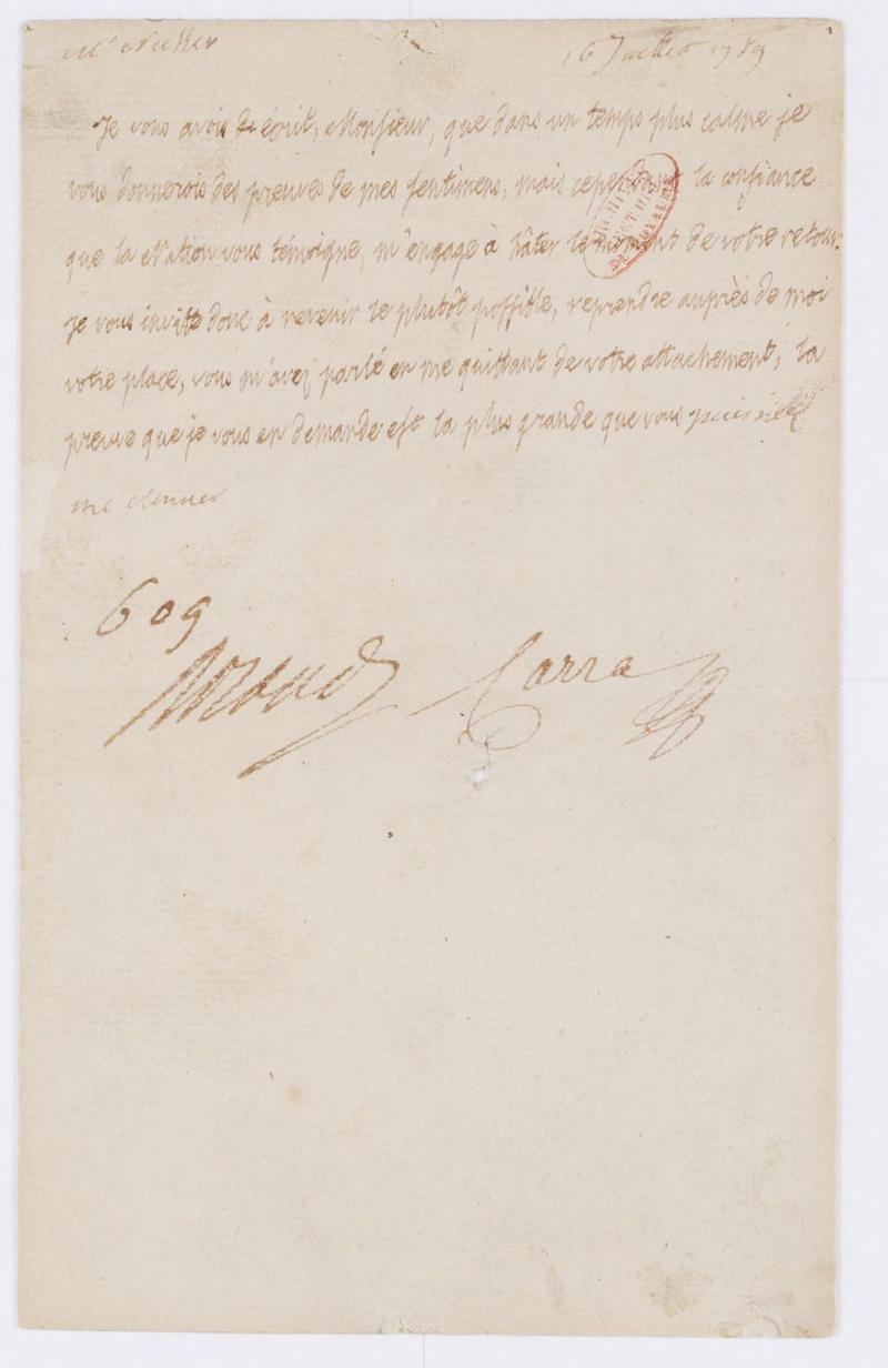 Lettres autographes et écrits de Louis XVI Dafanc62