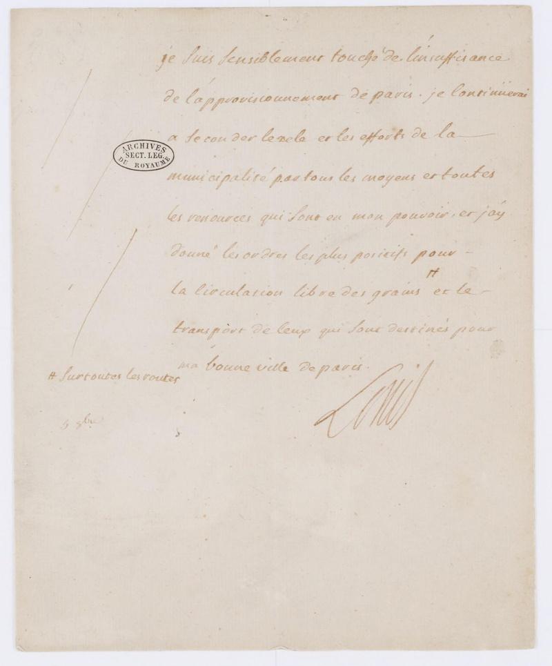 Lettres autographes et écrits de Louis XVI Dafanc63