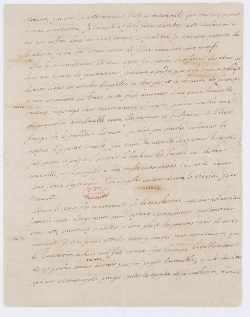 Lettres autographes et écrits de Louis XVI Dafanc64