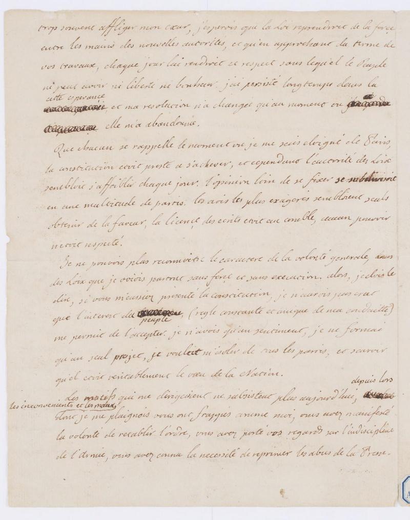 Lettres autographes et écrits de Louis XVI Dafanc65