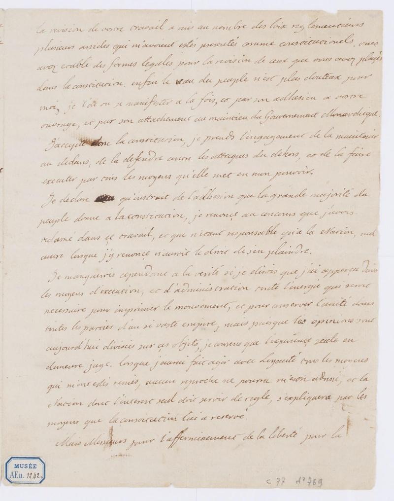 Lettres autographes et écrits de Louis XVI Dafanc66