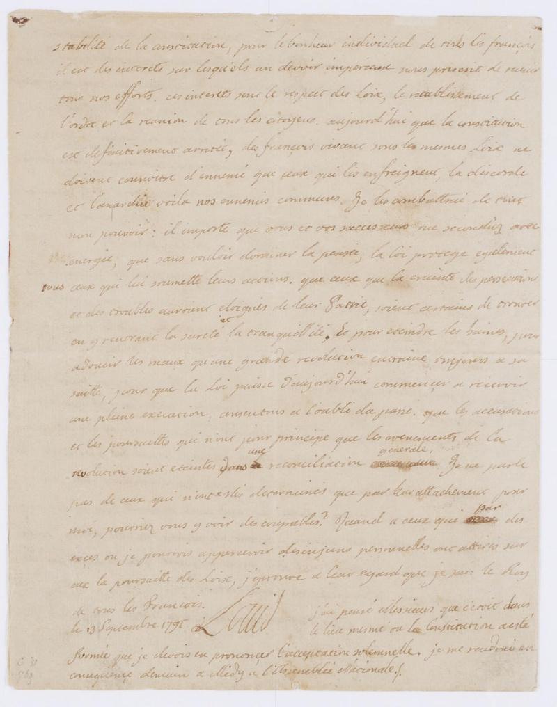 Lettres autographes et écrits de Louis XVI Dafanc67