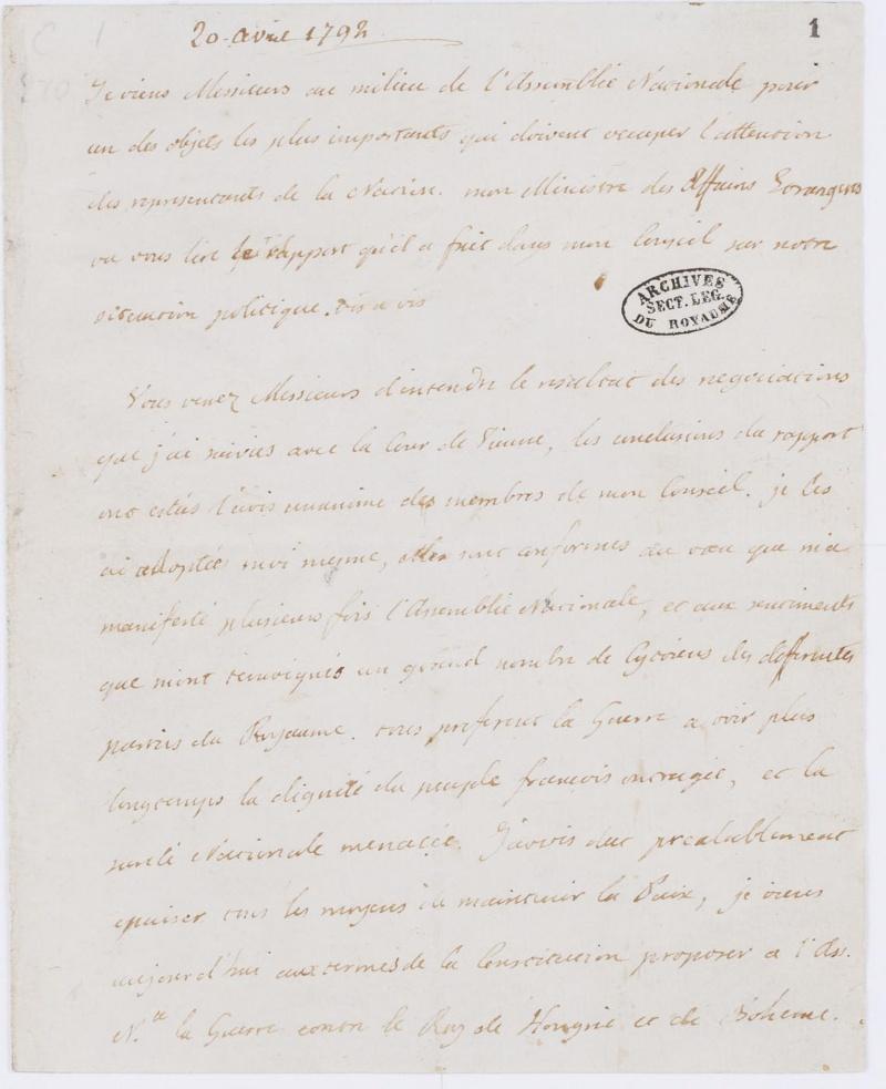 Lettres autographes et écrits de Louis XVI Dafanc69
