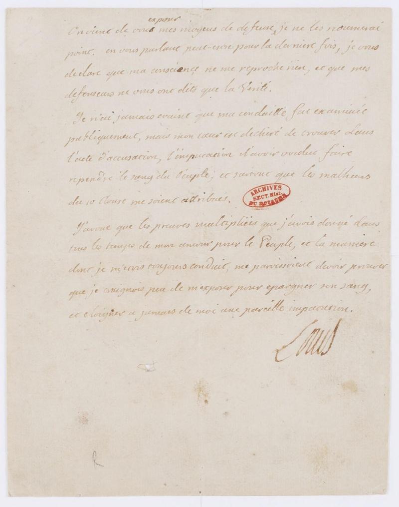Lettres autographes et écrits de Louis XVI Dafanc78
