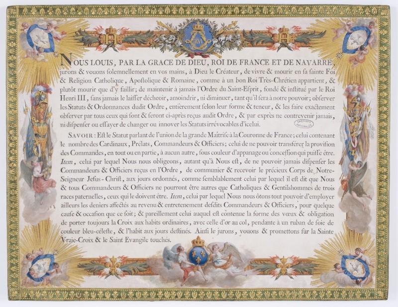 Louis XVI et l'ordre du Saint-Esprit Dafanc87