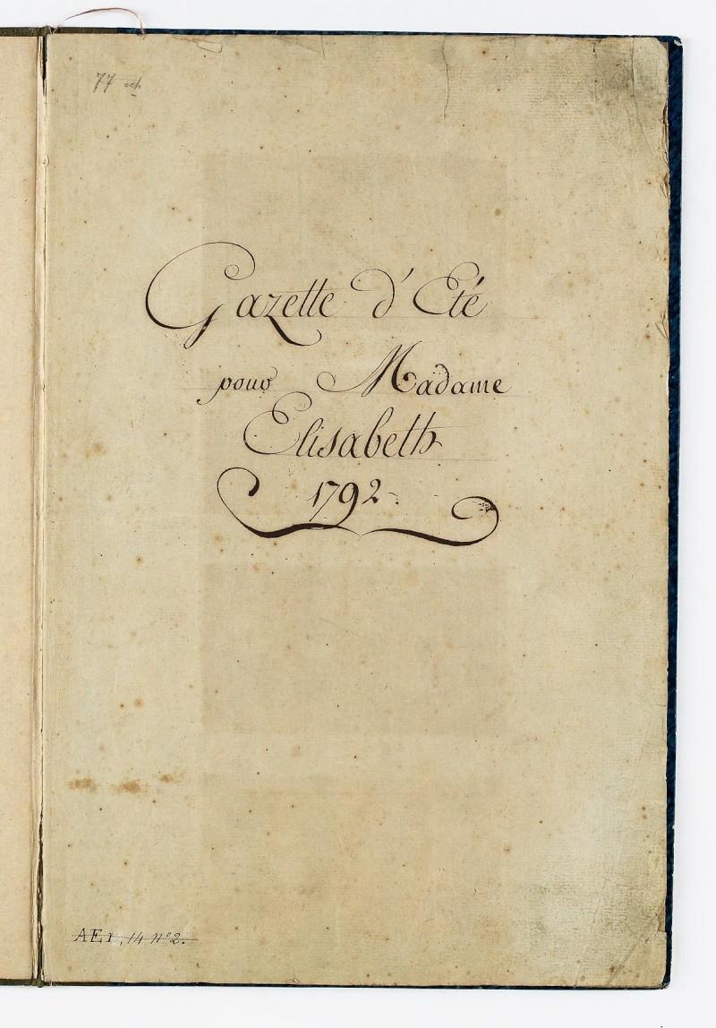 Gazette des atours d'été de Mme Elisabeth Dafanc93