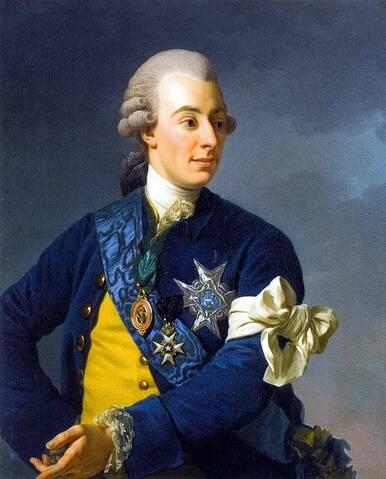 Le roi Gustave III de Suède