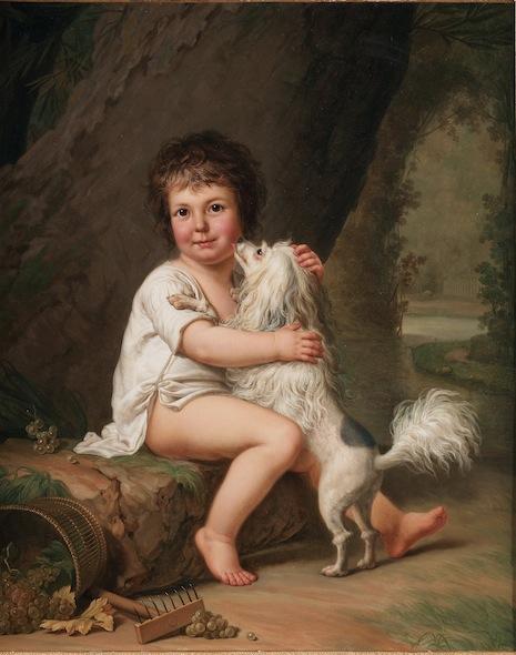 wertmuller - Marie-Antoinette en habit de chasse, ou chemise blanche, par Wertmüller (1788) Wertmu10