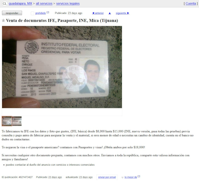 Sick of immigration?  These guys sell fake docs on Craigslist Fake_i10