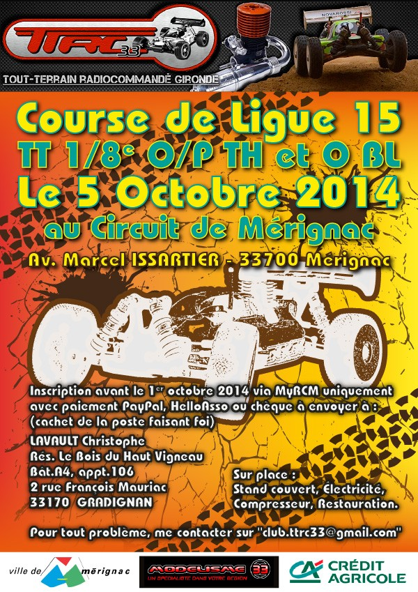Course de Ligue O/P-Th et O-BL le 5 octobre 2014 au TTRC33 Affich10