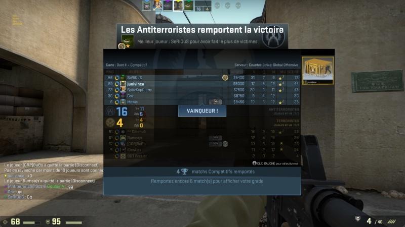 Résultats MatchMaking Counter Strike Cs11
