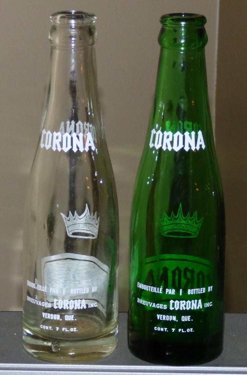 Bouteille de liqueur CORONA - Verdun / ACL / claire et verte - 7oz 2coron11