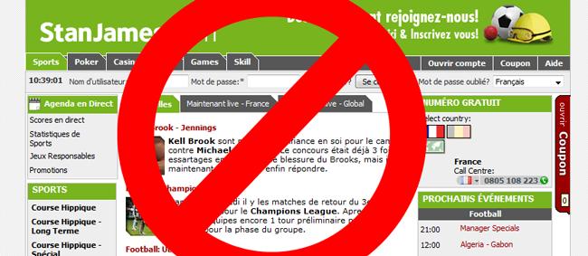 Déjà un site miroir pour contourner le filtrage de l'ARJEL Stanja10