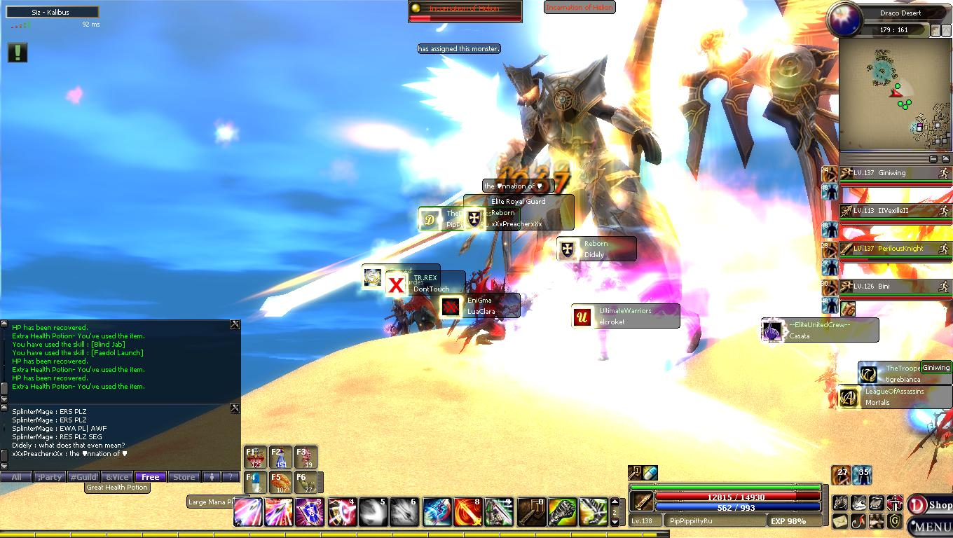 Incarnation of Helion and my lvl :D Dekaro14