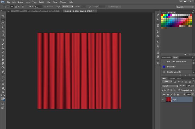 [Fiche] Créer une texture transparente (voile rideau) avec Photoshop   0116