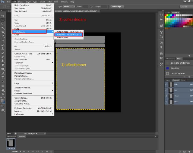 [Fiche] Créer une texture transparente (voile rideau) avec Photoshop   0315