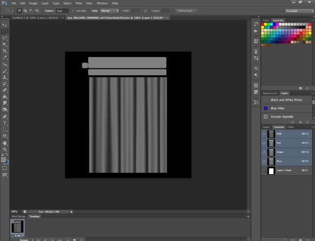 [Fiche] Créer une texture transparente (voile rideau) avec Photoshop   0416
