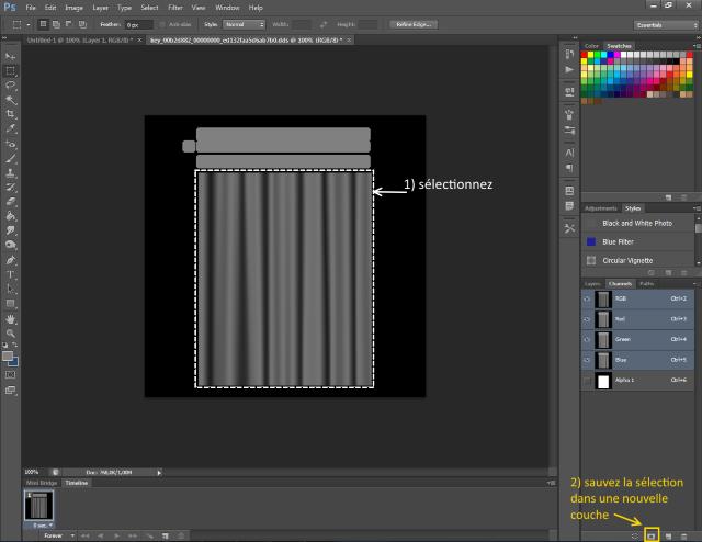 [Fiche] Créer une texture transparente (voile rideau) avec Photoshop   0617