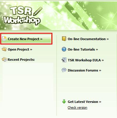 [Débutant] Manipuler TSRW - Création d'un nouveau projet  116
