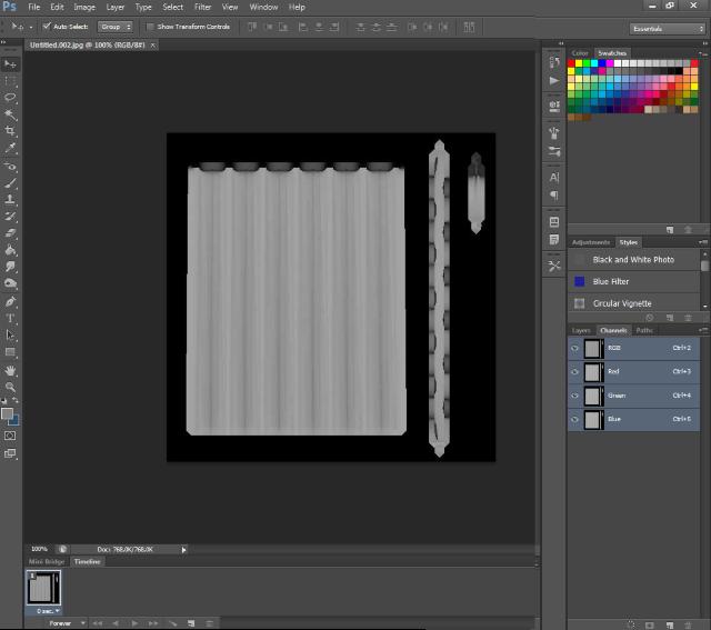[Fiche] Créer une texture transparente (voile rideau) avec Photoshop   1318