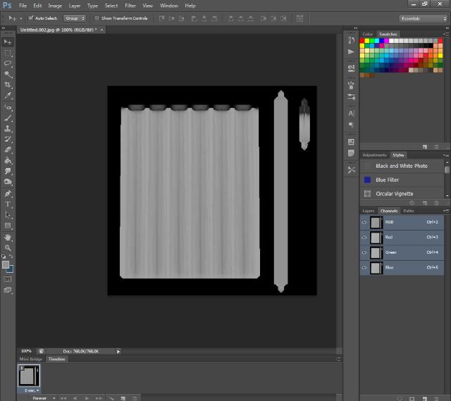 [Fiche] Créer une texture transparente (voile rideau) avec Photoshop   1418