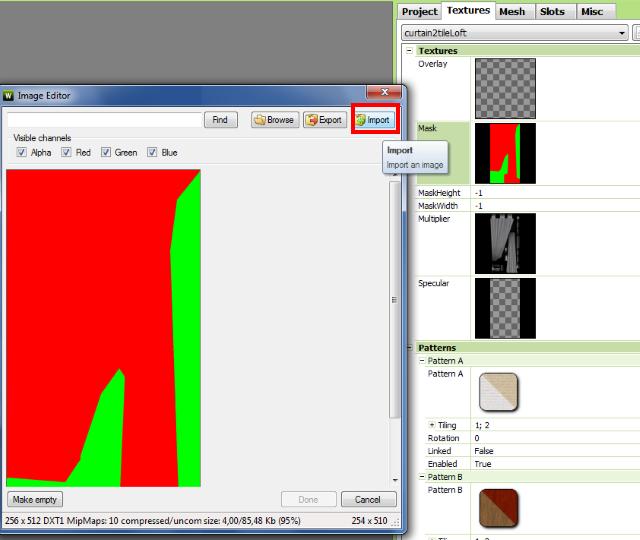 [Apprenti] Créer un rideau transparent (voile) 3212