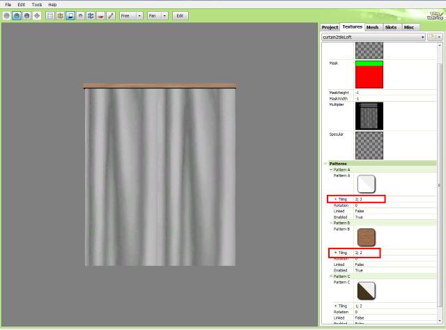 [Apprenti] Créer un rideau transparent (voile) 3313