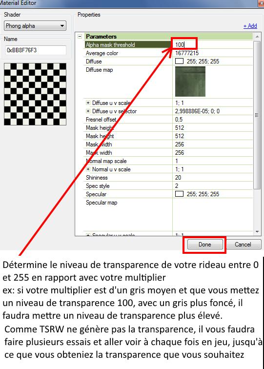 [Apprenti] Créer un rideau transparent (voile) 3512