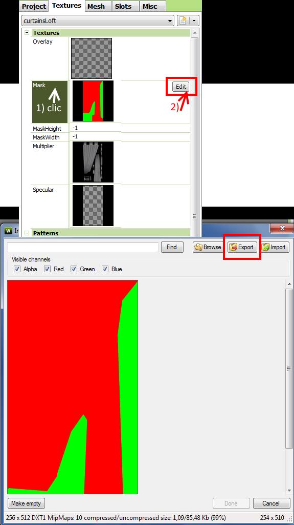 [Apprenti] Créer un rideau transparent (voile) 3612