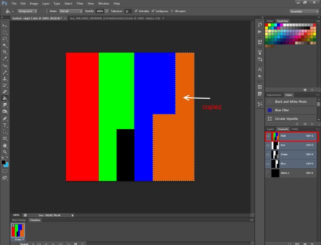 [Fiche] Créer un mask 4 couleurs au format DDS  avec Photoshop  516