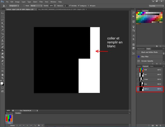 [Fiche] Créer un mask 4 couleurs au format DDS  avec Photoshop  617