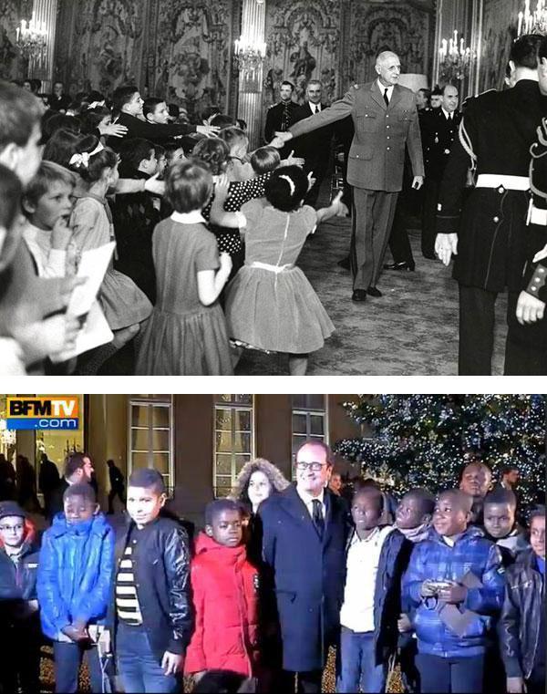 Noël à l'élysée, Hollande avec ses jeunes invités... B45vzb10